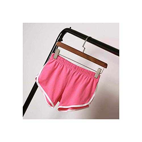 Women Short Pants Casual Ladies All-Match Loose Solid Soft Cotton Leisure Female Workout Waistband Skinny Stretch Short Pink XXXL -