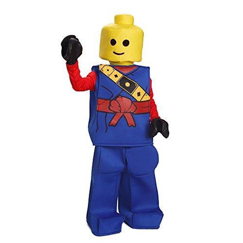 loween Kinder Lego Spielzeug Block Ninja Mann Kostüm Outfit Blau (Blau Ninja Kostüm Für Kinder)