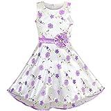 6f382b615 Sunny Fashion Vestido para niña Morado Floral Tul Fiesta de cumpleaños Boda  9-10 años