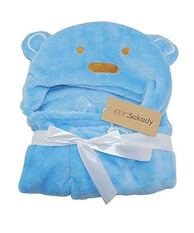 Oksakady Animal Peignoir de bain pour bébé Nid d'ange Couverture de serviette en polaire avec capuche pour douche de bain piscine plage Cadeau