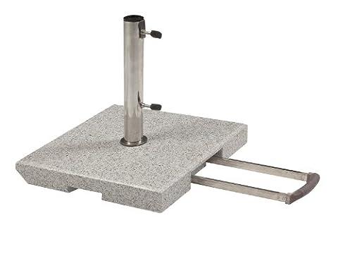 Doppler 40 kg Granit Schirmständer mit Rollen und