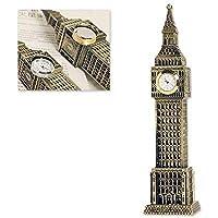 DSstyles Big Ben Tower Modelo Elizabeth Tower Metallic Statue Big Ben Figurita para Souvenirs - 23.5
