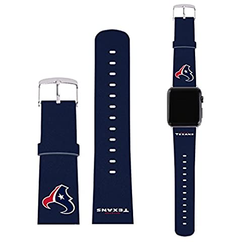 Officiel NFL Plaine Houston Texans Logo Bracelet De Cuir à