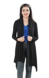 Bfly Crepe Black Long Shrug