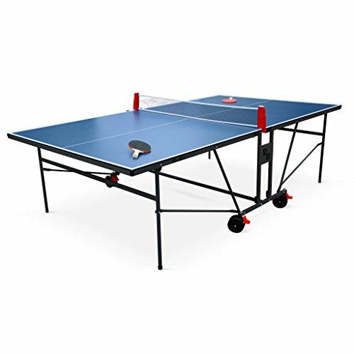 Alice's Garden Table de ping Pong Indoor Bleue - Table Pliable avec 2...