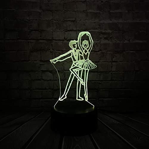 wangZJ 3d Led Lights Romantic 7 colori Moda Night Lights/Touch Dimming Decorazione per feste/Giocattoli per bambini Regali/Regali di Halloween/Ballo da s