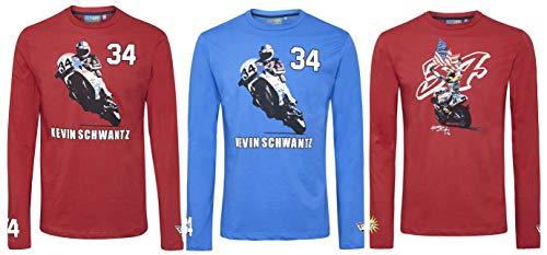 MotoGP Kevin Schwantz Value Pack 3x Herren Longsleeve T-Shirts, Herren, mehrfarbig -