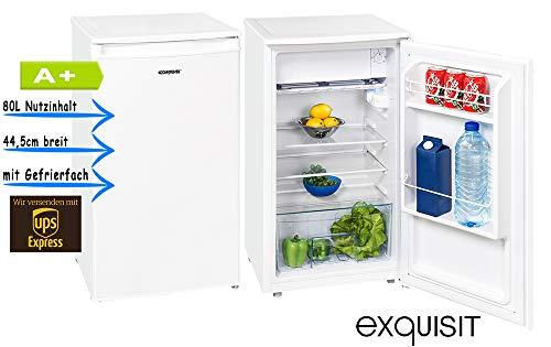 Exquisit KS 86-9 A+ Top Weiß Kühlschrank mit Gefrierfach A+ 44,5cm breit Bürokühlschrank