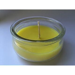 ANGOPE Kerzen Citronella Mückenschutz–CITRONELLA Duftkerze IN Glas-Flasche, gelb