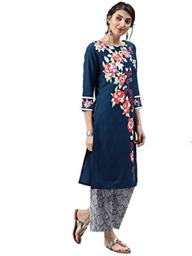 Vaamsi Women's A-Line Kurta (VPK1507_M_Blue_medium)
