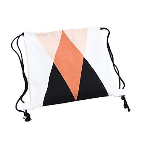 Saingace® les femmes cordon de serrage faisceau sac à dos le port (B)