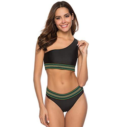 Bikini Sexy Mujer 2019 Banador Dos Piezas KanLin1986 Bañador AsiméTrico de Mujer Tops de Bikini Camisola...