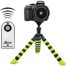 "Coolway® 11,5"" Zoll Pipi Große Krake-Stativ für DSLR-Kamera(Schwarz / Grün) + Mini Infrarot Fernauslöser"