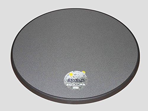 Sevelit Tischplatte Silber-Metall gebürstet wetterfest rund 850mm Durchmesser