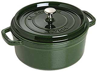 STAUB Cocotte Redonda, Hierro Fundido, Verde basilisco, 24 cm (B000SAFVEM) | Amazon price tracker / tracking, Amazon price history charts, Amazon price watches, Amazon price drop alerts