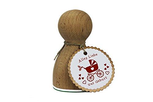 Stemplino Maxi Stempel XL - Alles Gute zur Geburt - Geschenke zur Geburt