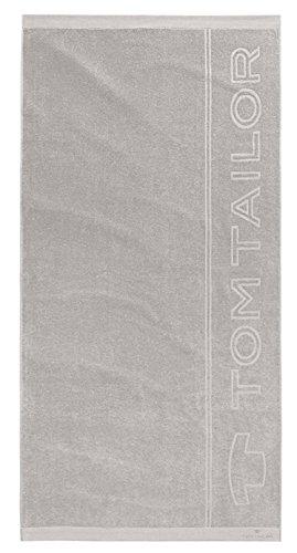 "Tom Tailor Baumwoll Frottier ""Lakeshore"", Strandtuch Strandlaken 90 x 180 cm, silver"