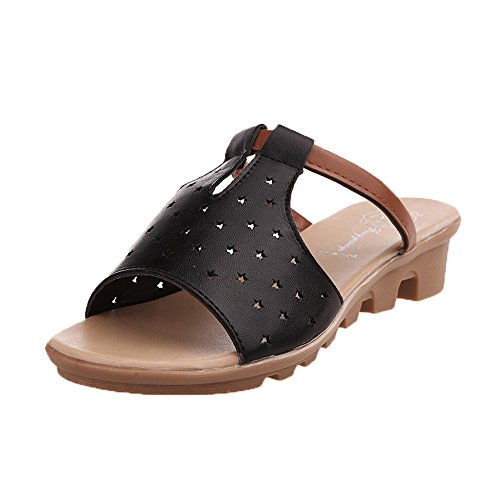 KonJin Flip Flops for Women Summer Sandals Solid Color Casual Beach Ankle Strap Slides Flat with Slippers Jewel Strap Sandal