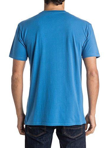 Quiksilver Herren Classic West Pier Lange Ärmel Bildschirm T-Shirt Blau (star Sapphire Bnj0)