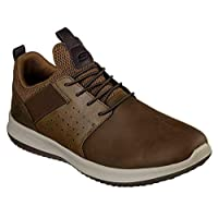 SKECHERS Delson, Men's Sneakers, Brown (Dark Brown), 9.5 UK (44 EU)