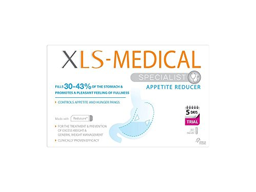 XLS-Medical Appetite Reducer Diet Capsules for Weight Loss, 5-Day Trial Pack, 30 Capsules