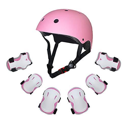 Grist CC Helmet Skate Protektoren Set mit Helmet Knie Pads Elbow Pads Handgelenkschoner für Roller Skate BMX Bike (Bike Knie Pads)