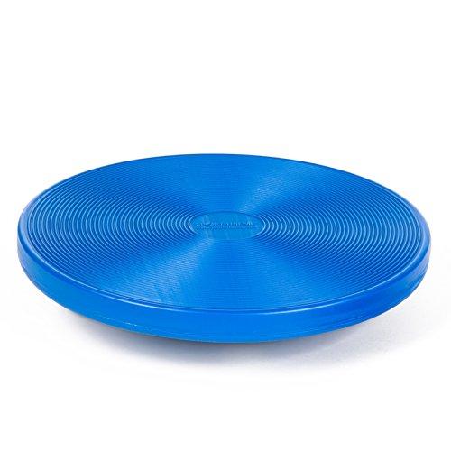 Sport-Thieme Balance-Board, Sport- und Therapiekreisel | Hochwertiger Gleichgewichts- u. Koordinations-Trainer | Inkl. Übungsanleitung | Blau o. Grün | ø 39 cm | Bis 120 kg | Markenqualität