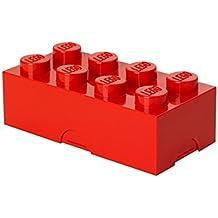 Plast Team PT40230 - Fiambrera para el almuerzo en forma de bloque de lego 6, color rojo [importado de Alemania]