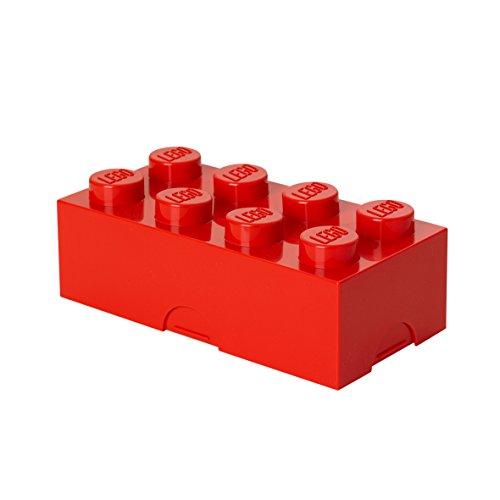 Contenitore Portavivande Lego a 8 Bottoncini, Piccolo Contenitore o Portamatite, Rosso