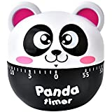 Shoppertize Mechanical 60 Minutes Kitchen Timer with Alarm, No Batteries Required- Cartoon Panda Timer