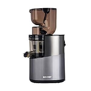 BioChef Atlas Whole Slow Juicer Pro - Estrattore di Succo, 400 Watt, 40 RPM, estrattore a freddo. Garanzia a vita sul motore (Argento) - 2021 -