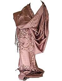 1278f1966829 Bullahshah écharpe réversible impression recto-verso pashmina sentir châle  wrap avec des tourbillons floraux complexes