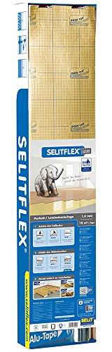 Selitflex Parkett- und Laminatunterlage 1,6 mm, 2 in 1