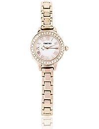 Time100 Fashion Luxury Diamond Round Rose Golden White Black Yellow Round Dial Bracelet Ladies Watch #W50145L