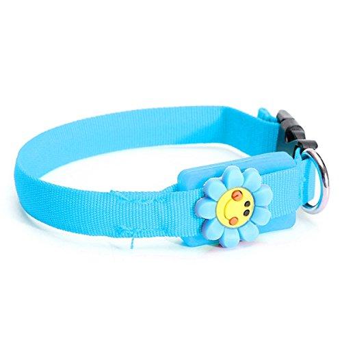 Tutoy Neue Haustier-Halsbänder Haustier-Hundekatze Wasserdichte Led-Lichter Grelle Nacht Sicherheits-Nylon Justierbarer Kragen -Pink