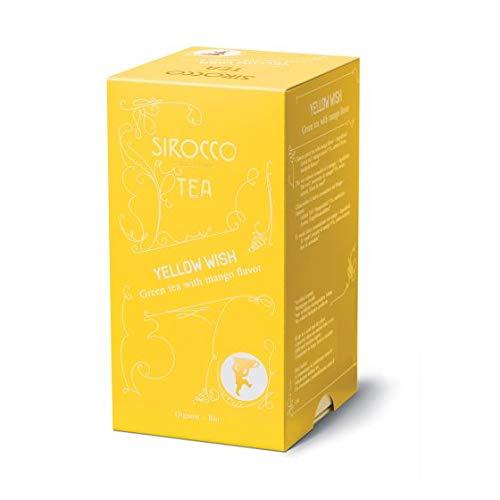SIROCCO TEE - YELLOW WISH Chinesischer Organisches Grüntee mit Mango - 20 Teebeutel (Marokko-minze-grüner Tee)
