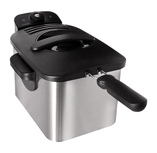 Inventum GF431 Kaltzonen Fritteuse, 3 Liter, 2200 Watt, Edelstahlgehäuse, gebürstet