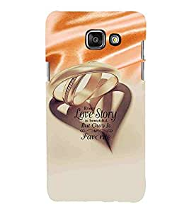 Ring, White, Every Lovestory is beautiful but Our's is my Favorite, Amazing Pattern, Printed Designer Back Case Cover for Samsung On5 (2016) New Edition For 2017 :: Samsung Galaxy On 5 (2017)