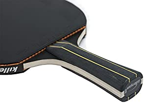 Killerspin JET BLACK Table Tennis Bat - Best Ping Pong Bat for Control Oriented & Cool Game Review 2018 by Killerspin