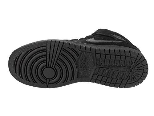 Nike Jordan Youth Air Jordan 1 Mid Leather Trainers Black/White Black
