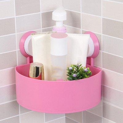 salle de bains rack, mur sucker, pas de coups de toilettes, toilettes rack, aspiration mur triangle,rose