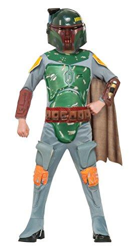 Fett Boba Kostüm Kind - Star Wars Deluxe Kinder Kostüm Boba Fett Größe S - 116cm
