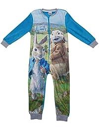 GetWivvit Garçon Officiel Peter Lapin & Benjamin Bunny Polaire Fermeture Éclair Pyjama Combinaison Tailles à partir DE 1.5 to 5 Ans