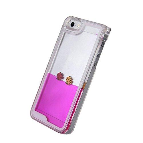 iPhone 6S Plus Coque,iPhone 6 Plus Coque,iPhone 6S Plus Case,iPhone 6 Plus Case,EMAXELERS Liquide Glitter Bling Sparkles Cute Deer Child Design Strass Case Cover Coque Housse Etui pour iPhone 6S Plus, Fish Series 5