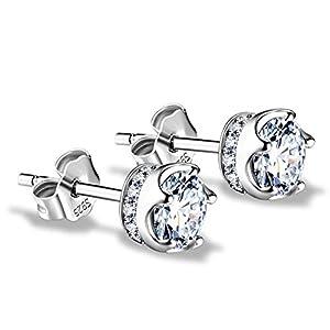 J.Vénus Damen Ohrstecker Ohrringe Set Basic 925 Sterling Silber, Ohrringe mit Etui …
