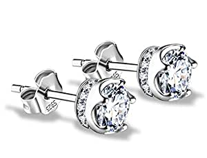 J.Vénus Damen Ohrstecker Ohrringe Set Basic 925 Sterling Silber, Ohrringe mit Etui …
