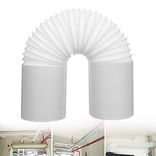Abluftschlauch flexibel für Klimaanlagen, Abluftschlauch Luftschlauch, Auspuff Schlauch Belüftung Stahl Draht Universell Teile Schlauch Rohr Ansaug Robust Profi(2m-Länge,15cm-Durchmesser) - Draht-strecke