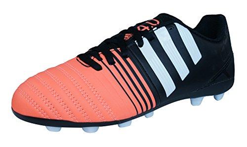 Neuf: adidas Nitrocharge 4.0 FxG Enfant Chaussures de football, Noir Cblack/Ftwwht/Flaora
