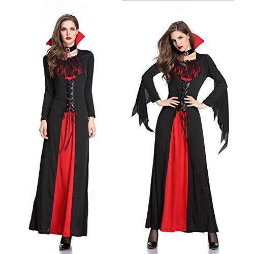 Charakter Holiday Kostüm - JINGJING Kleid Cosplay Kostüm Masquerade Erwachsene Frauen Cosplay Halloween Karneval Festival/Holiday Lace Polyster Red Frauen Karneval Kostüme,Black-M