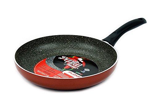 Excelife Flonal Cookware Pepita Granit Bratpfanne, 33 cm, Rot 11